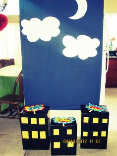 photo booth for my kids superhero birthday party