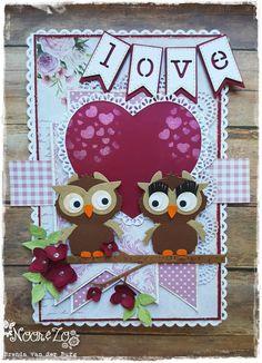 Hallo Allemaal, Na een tijdje weg te zijn geweest uit het team van Noor & Zo, ben ik weer terug en daar ben ik erg trots op! Ik heb voo... Owl Card, Owl Punch, Marianne Design, Funny Cards, Quilling, Cardmaking, Valentines, Stamp, Cool Stuff