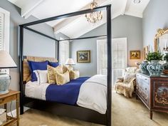 French Grey Bedroom Master Four-posted