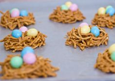 Bird nest cookies-I should do this with the girls this weekend!! So cute!