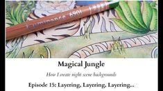 Magical Jungle - How I colour night scene backgrounds - Episode 15