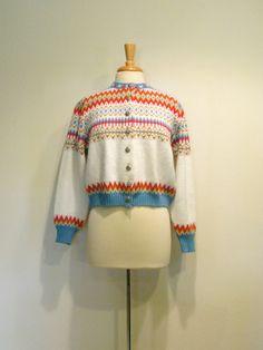 SALE 1950s Jersild Nordic Ski Sweater.