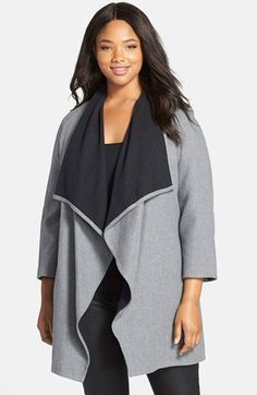 Sejour Double Face Cotton Blanket Coat (Plus Size) available at #Nordstrom