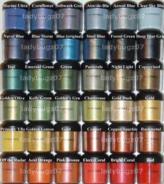 MAC pigments - after 8 years of collecting, i'm still a devoted pigment user #makeup #pigments #MAC