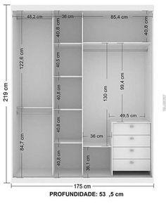 ¡Conoce los planos para tener un closet a tu medida perfecto para tu habitacion! - Ideas Perfectas