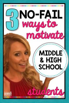 Check out these 3 No-Fail strategies for motivating middle and high school students. Get your students to complete homework assignments, perform well on tests and enjoy your class with these easy-to-implement classroom management strategies. Be sure to grab the FREE resources that supplement this blog post! #thetrendyscienceteacher #classroommanagement #middleschoolstrategies #highschoolstrategies