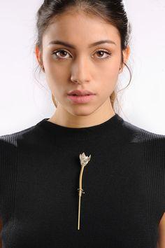 MASKED_4 Brooch #contemporary #jewelry #schmuck #art #design #bijoux #contemporains #silver #brass