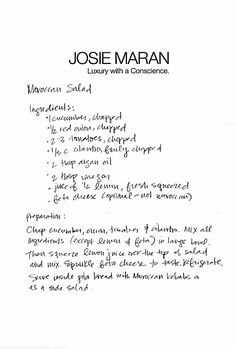Josie Maran | THE GLOW: Moroccan Salad