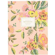 Women's Rifle Paper Co. 'Jardin De Paris' Ruled Notebook (970 RUB) ❤ liked on Polyvore featuring home, home decor, stationery and pink floral