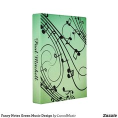 Fancy Notes Green Music Design Mini Binder