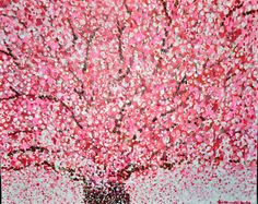 What a good idea, Cherry Blossom Tree painting!  My favorite kind of tree!