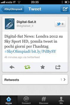 Grande successo per l'iniziativa social di Sky. Dalla Cerimonia di apertura dei Giochi a oggi, l'evento è stato seguito attraverso l'account Twitter di Sky Sport HD da oltre 15 Grande successo per l'iniziativa social di Sky. Dalla Cerimonia a oggi, 15 mila account unici e oltre 50 mila tweet che hanno utilizzato l'hashtag #SkyOlimpiadi. #Olimpiadi