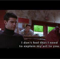 i don't feel i need to explain my art to you, warren.