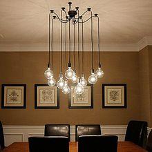 Creative Spider Style 10 Arm Edison Bulb Pendant Light Modern Vintage Loft Bar Restaurant Bedrooms E27 Art Lamps Home Decorative(China (Mainland))