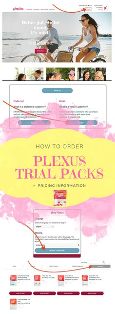 Detailed information on ordering your Plexus trial pack. How to order your 7 day trial, and the Plexus 7 day trial cost. There are a few different products you may want to try out. This is a great Plexus tool for ambassadors passing along this information!
