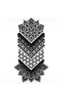 Geometric Mandala Tattoo, Geometric Tattoo Design, Mandala Tattoo Design, Tattoo Design Drawings, Tattoo Sleeve Designs, Star Tattoo On Hand, Star Tattoos, Body Art Tattoos, Chicanas Tattoo