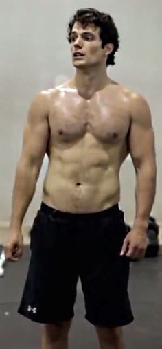 Henry -- Shirtless and sweaty...... oh my