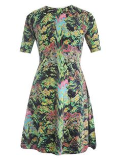 Kenzo Forest-print knitted dress