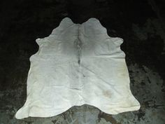 Rare White Cowhide - x feet x feet Cow Leather, Real Leather, White Cowhide Rug, Cow Hide Rug, Indoor Rugs, Memorable Gifts, Latex Free, Online Home Decor Stores, Leather Fashion