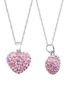 TOPSELLER! Authentic Pink Sapphire Color Heart Shape Pendant Crystals. Now At Our Lowest Price Ever but Only for a Limited Time!(chai... $0.01