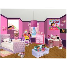 1000 images about baby room ideas on pinterest dora the for Dora themed bedroom designs