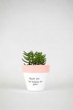 Thank you for helping me grow - school teacher gift - teacher appreciation gift - teacher thank you gift - teacher christmas gifts - - Thank You Teacher Gifts, Teacher Christmas Gifts, Teacher Appreciation Gifts, Painted Plant Pots, Painted Flower Pots, Suculentas Diy, Decorated Flower Pots, Flower Pot Design, Flower Pot Crafts