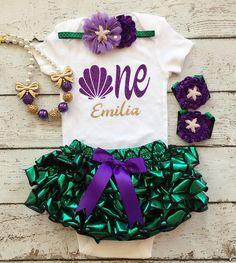 Mermaid Birthday outfit/Little mermaid/1st Birthday