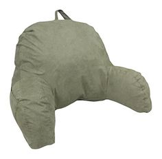Deluxe Comfort Microsuede Bed Rest - Backrest Pillow with Arms - Bed Rest Pillow - Reading Bedrest Lounger - Sitting Support Pillow - Soft But Firmly-Stuffed Fiberfill - Reading Pillow, Green Bed Pillow With Arms, Bed Rest Pillow, Modern Throw Pillows, Decorative Throw Pillows, Floor Pillows, Bed Pillows, Buckwheat Hull Pillow, Wooden Pallet Beds, Latex Pillow