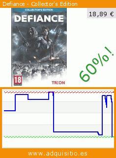 Defiance - Collector's Edition (Juego de ordenador). Baja 60.071866413021%! Precio actual 18,89 €, el precio anterior fue de 47,31 €. https://www.adquisitio.es/namco-bandai/defiance-collectors-1