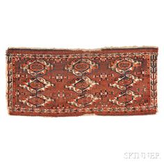 Yomud Turkoman Torba, Central Asia, mid-19th century, 1 ft. 9 in. x 3 ft. 10 in.   | Skinner Auctioneers Sale 2884B
