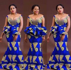 Ankara Latest Gown Styles, this is a collection of vibrant ankara long gown and short gown dresses that will define the true beauty which you possess. African Fashion Designers, Latest African Fashion Dresses, African Dresses For Women, African Print Dresses, African Print Fashion, Africa Fashion, African Attire, African Wear, African Women
