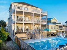 My Absolutely Favorite Beach House Someday D Luxury Oceanfront Pool Hot Tub Elevator Wedding FriendlyVacation Rental In Carolina From