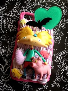 Hey Arnold inspired iPhone 4S case   Request your custom case__http://www.etsy.com/shop/frecklesNbones