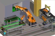isola robotizzata con Kuka KR30 per lavorazione componenti