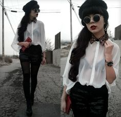 Kendall Kay - Shopakira Detachable Collar, S.I.N Thermal Leggings - .After All, You're My Wonderwall.