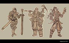 ArtStation - RPG Characters 01 , Johannes Helgeson