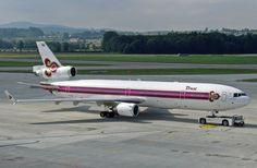 Thai International, Mcdonnell Douglas Md 11, Mcdonald Douglas, Douglas Aircraft, Thai Airways, Civil Aviation, World Pictures, Thailand, Airplanes
