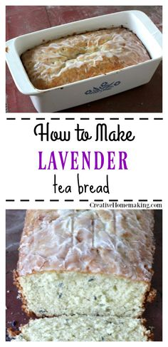 Lavender Tea Bread - Creative Homemaking - need that pan! Gourmet Recipes, Baking Recipes, Sweet Recipes, Cake Recipes, Dessert Recipes, Tea Cakes, Food Cakes, Lavender Recipes, Lavender Tea Bread Recipe