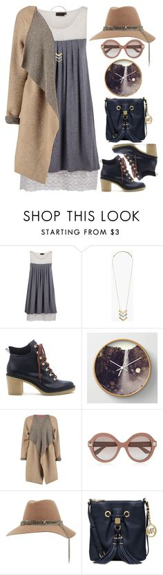 """""""Waterfall"""" by grozdana-v ❤ liked on Polyvore featuring Madewell, Miista, Valentino, MAISON MICHEL PARIS and Michael Kors"""