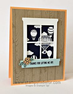 Special hand stamped card for a special friend. Do you have a special friend that knows just what to say and when to say it to lift your spirits? The Lift Me Up stamp set has a great sentiment to tha