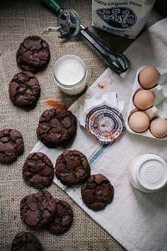 salted spicy double chocolate cookies by Beth Kirby   {local milk}, via Flickr