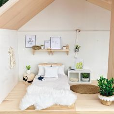 american girl doll diy furniture Pretty Little Minis - modern dollhouse furniture and decor for sale Barbie Furniture, Ikea Dollhouse, Miniature Dollhouse Furniture, Dollhouse Ideas, Miniature Dolls, Furniture Vintage, Miniature Houses, American Girl Doll Room, Barbie Bedroom