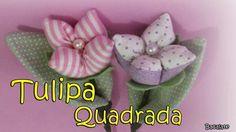 Artesanato: Como fazer TULIPA QUADRADA - MODELO 2 - Flor, DIY