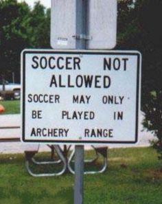 Soccer not allowed