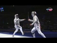 Fencing WCH 2013 Best fight: Sabre Kovalev vs. Szilagyi. This goes right down to the last point. Only problem is my German (I think it's German) is not up to following the commentary.