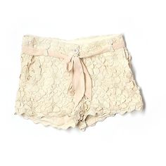 Pre-owned Gracia Dressy Shorts ($20) ❤ liked on Polyvore featuring shorts, beige, beige shorts and dressy shorts