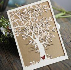 Aliexpress Laser Cut Tree Wedding Invitation Fall Cards Invite Rustic Invitations Set Of 50 From