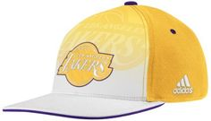 Los angeles lakers adidas 2011 nba authentic draft day flex fit hat by