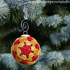 10 Cute FREE Christmas Ornament Crochet Patterns: Crochet Christmas Ornament…