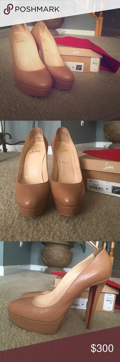 Authentic Christian Louboutin Bianca 140 Kid 140mm Christian Louboutin Kid Leather. Worn. Comes with box and dust bag only! Christian Louboutin Shoes Platforms